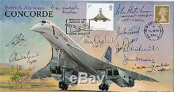 Superb CONCORDE FDC MULTI signed Chief Pilots x11 VERY RARE