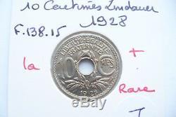 Superbe Monnaie 10 Centimes Lindauer 1928 Rare Fdc