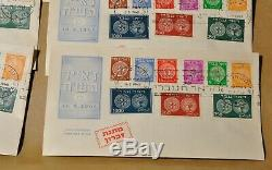 Ten 1948 First Day Cover Israel Stamps 1-9 Doar Ivri
