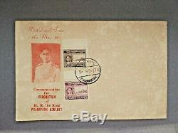 Thailand King Rama IX (bhumipol) Coronation First Day Cover 1950