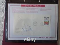 The Olympic Masterfile Stamp Collection 3 Albums MNH FDC Signed Covers Coin