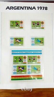 The World Cup Masterfile 4 Albums Stamps, First Day Covers, Coins Mexico'86