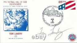Tom Landry Cowboys Signed First Day Cover Autograph Auto PSA/DNA AE85590