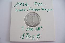 Très Rare Pièce -1 Centime Epi 1991 Frappe Monnaie Fdc! (05/17)