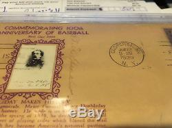 Tris Speaker Autographed Signed Hall of Fame First Day Cover Envelope PSA