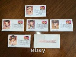 UNOPENED Elvis Presley First Day of Issue Jan. 8, 1993.29 Stamp Fleetwood Set