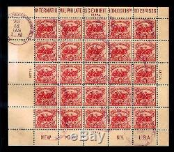 US #630 1st Day Issue Souvenir Sheet 1926 Intl. Philatelic Exhib. $1800 (E#007)