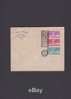 Uruguay FDC, 1924, Olympics Football (Soccer) Scott n. 282-284. See Description