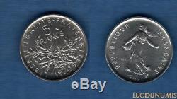 V République 1959 ESSAI 5 Francs Pierre Semeuse 1970 / SUP FDC