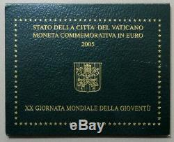 VATICANO Benedetto XVI 2 EURO 2005 FDC Commemorativo Giornata della Gioventù