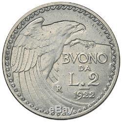 VITTORIO EMANUELE III (1900-1943) 2 Lire 1922 Prova Tecnica FDC