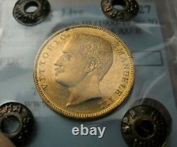 VITTORIO EMANUELE III 20 lire oro 1905 Aquila Sabauda Sigillata FDC rara
