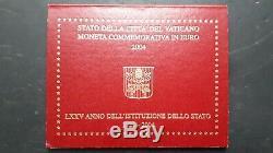 Vaticano 2004 Moneta 2 Euro 75° Anniversario Dello Stato In Folder Fdc