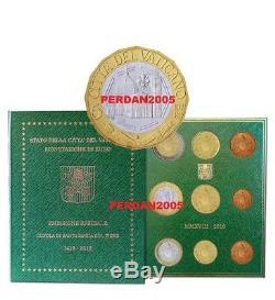 Vaticano 2018 Divisionale Fdc 9 Monete Con 5 Euro Bimetallico Vatikan Kms Bu Set