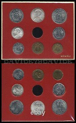 Vaticano Papa Pio XII Anno III Serie Divisionale Monete Anno 1941 Fdc