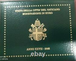 Vaticano Serie Fdc Divisionale Euro 2005 Giovanni Paolo II Perfetta Anno XXVII
