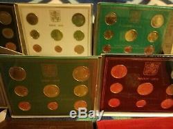 Vaticano divisionali FDC 2002-2019 Vatikan KMS Vatican coin sets UNC folders