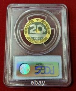 Ve République 20 Francs or Mont Saint Michel 1992 PCGS PR 69 DCAM Top coin
