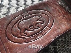 Vintage Custom Buffalo Scale American Indian Style Dagger Knife FDC Solomon