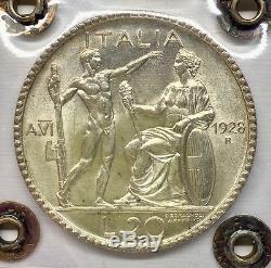 Vittorio Emanuele III 20 Lire Littore 1928 Perizia Ranieri FDC