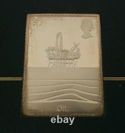 Vtg 1978 Post Office 6X Solid Sterling Silver Ingot Stamps & 1st Day Covers 300g