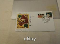 Wfuna Keith Haring Signed Fdc 1988