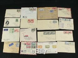 Wonderful British Colonies Covers Collection Lot 175 with1937 FDC, Airmail, Ceylon