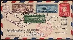 #c13-c15 On #u522 Entire Fdc Zeppelin Flight Cover CV $12,500 Wl7623dw